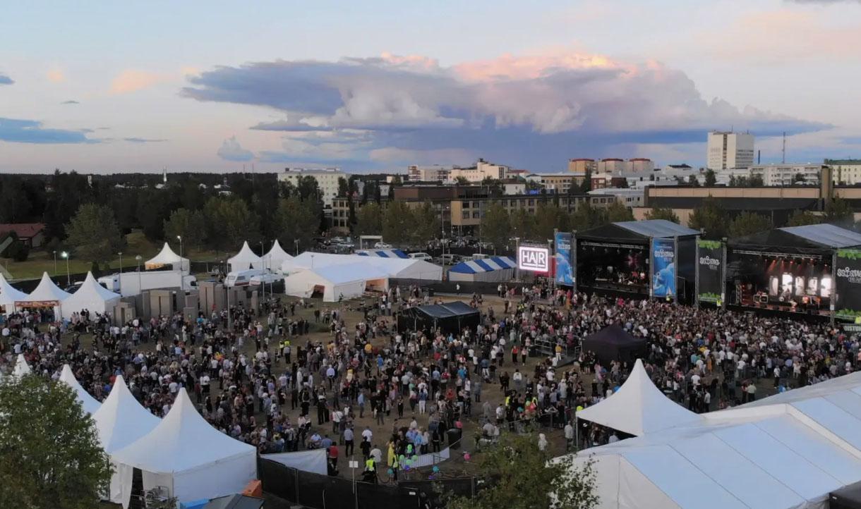 Ilmakuvaus Satama Open Air -festivaalissa